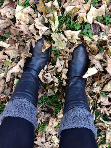 Boot Toppers in the leaves