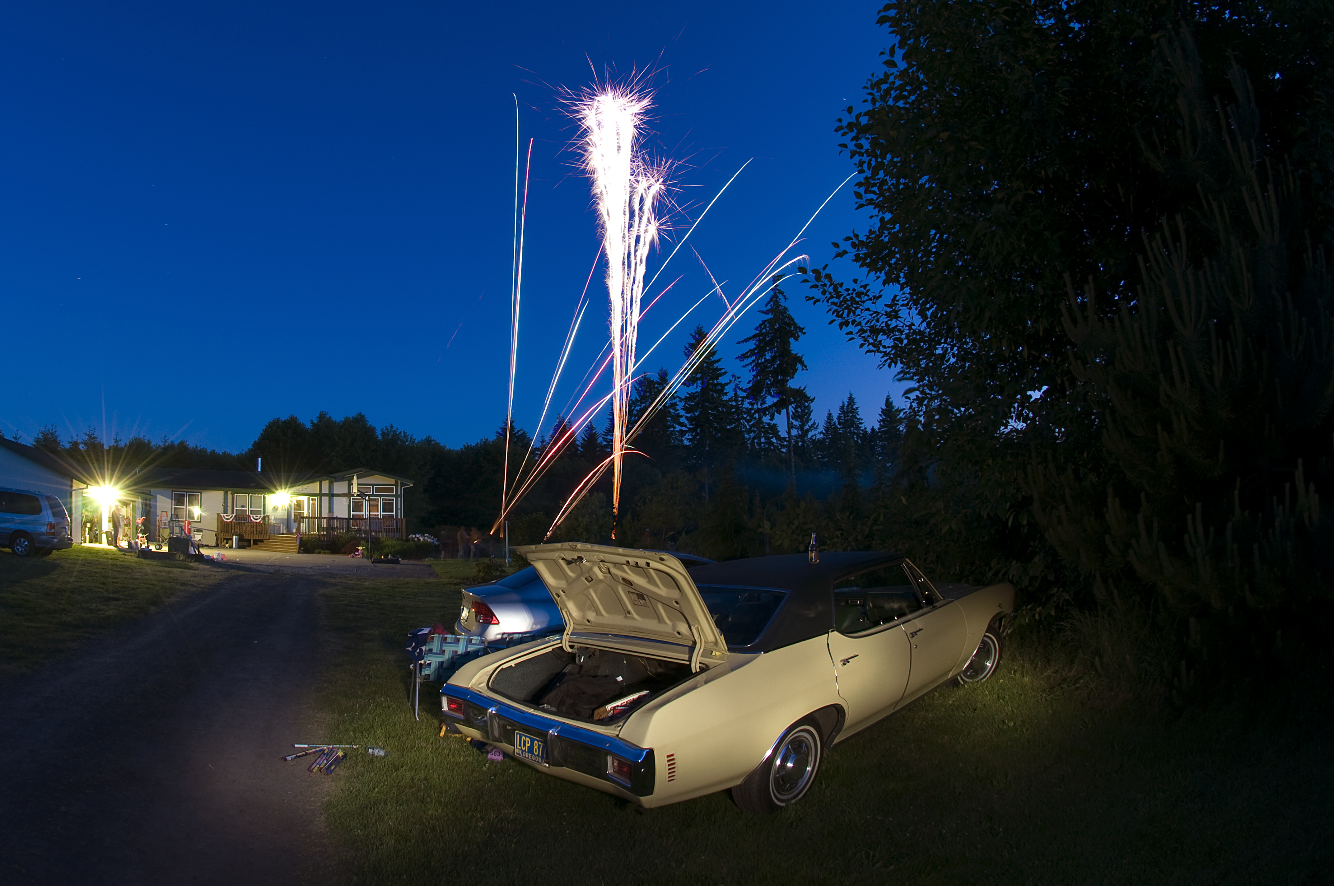 ~ Backyard Fireworks
