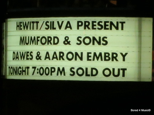 Mumford & Sons @ The Hollywood Bowl [11/10/12]