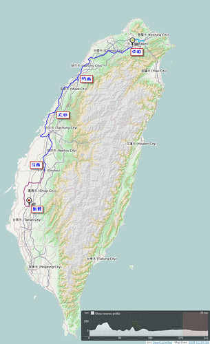2011.10.09~12.單車環島.路線軌跡圖