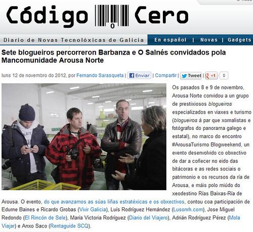 Sete blogueiros percorreron Barbanza e O Salnés convidados pola Mancomunidade Arousa Norte