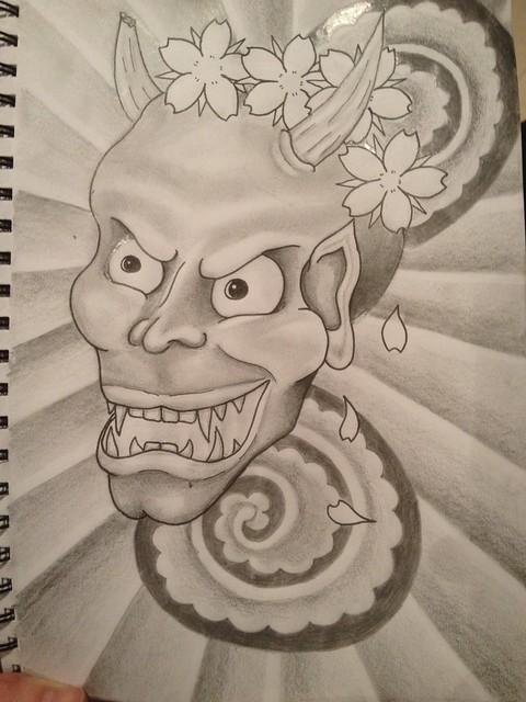 Kabuki Hannya Mask Design