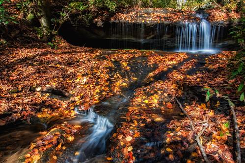 travel autumn fall waterfall fallcolors northcarolina nik boone hdr blueridgeparkway topaz photomatix greenbranchwaterfall