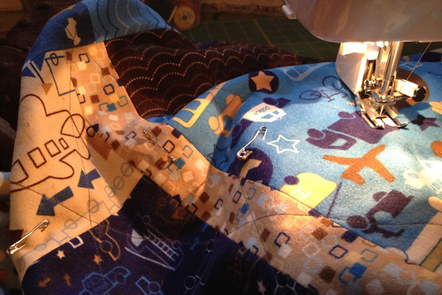 boy flannel quilt
