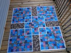Samurai Sudoku Quilt Center finished