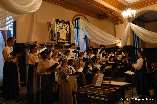 Conducting the Carleton Choir Madrigal Dinner performance