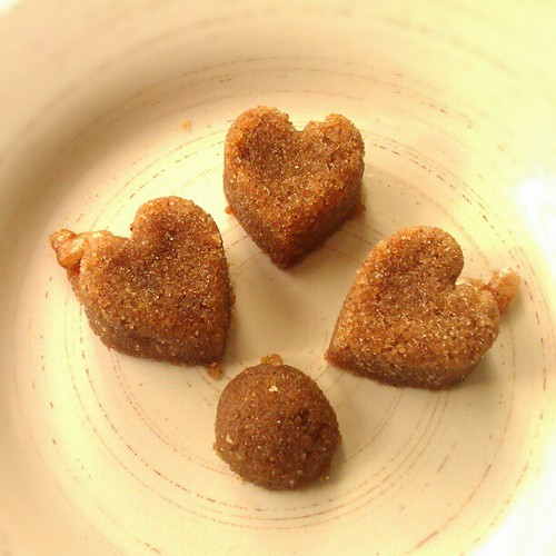 Pumpkin Spice Sugar Hearts (& a half ball)!  Thanks to @tostina for her post: bit.ly/RNzSDK They're sooo good!
