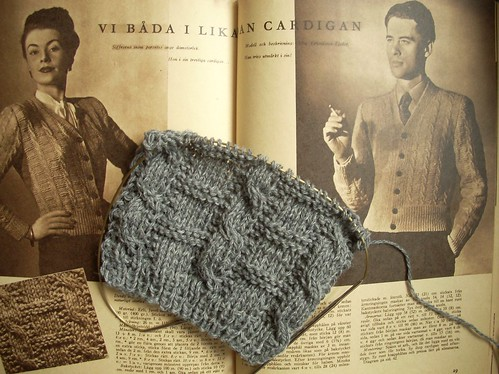 Vintage knitting by Asplund