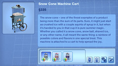 Snow Cone Machine Cart