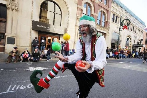 Papa Elf at Asheville Parade