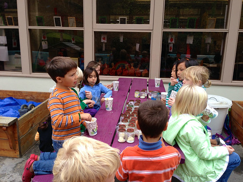 Kids trying Stone Soup