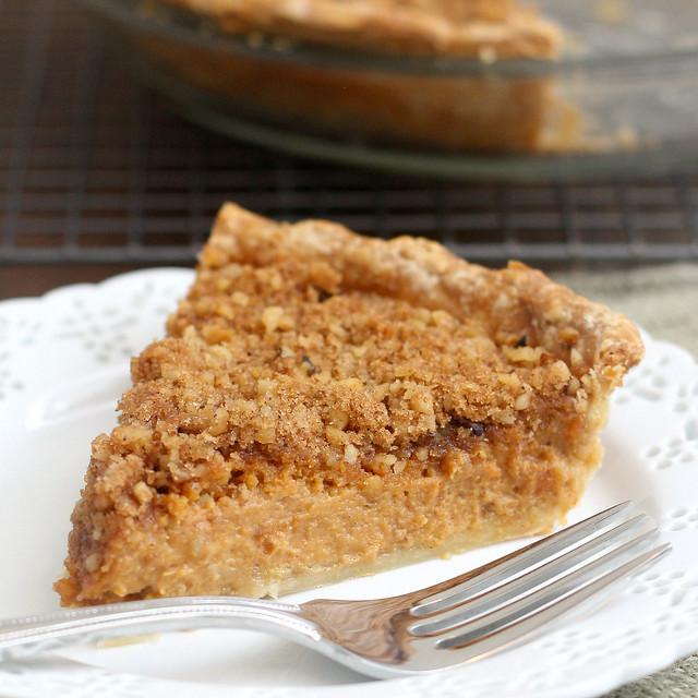 Pumpkin Pie with Brown Sugar-Walnut Topping | Flickr - Photo Sharing!
