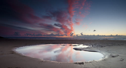 pink sunset reflection heritage beach nature glass pool beauty wales clouds wonder point puddle bay coast colours explosion vale national glamorgan coastline welsh nash puddles magical beack ogmore mawr porthcawl southerndown traeth southerndow
