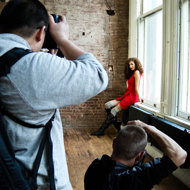 Scene from American Model Photo Shoot, NYC 2012