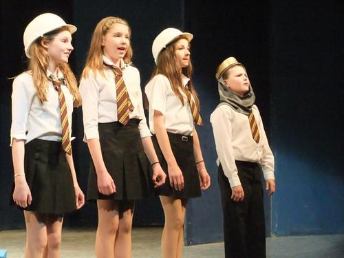 """When I Grow Up"": A scene from Edinburgh Gang Show 2012 dress rehearsal. Photo Michael Walker"
