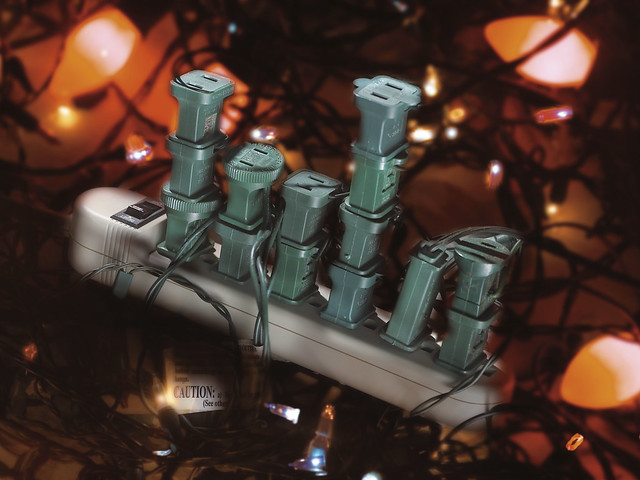 Holiday fire safety - Power strip overloaded | Holiday Light ...
