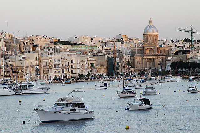 View over the harbour from Vittoriosa, Malta