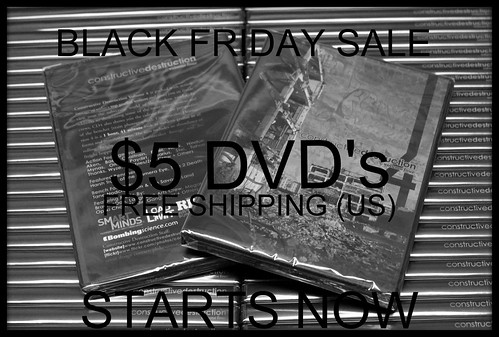 **BLACK FRIDAY SALE ON NOW** by CONSTRUCTIVE DESTRUCTION