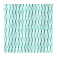 7x7 inch SQ JPG KNITTING paper turquoise LARGE SCALE