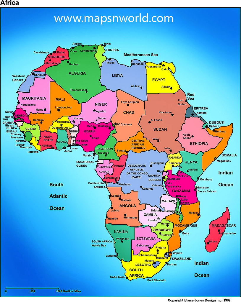 Maps African Studies - African continent map
