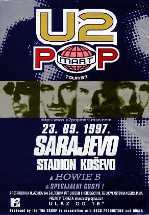 U2 PopMart Sarajevo poster