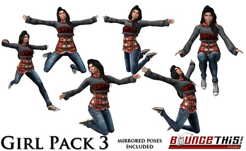 Bounce This Poses - Girl Pack 3