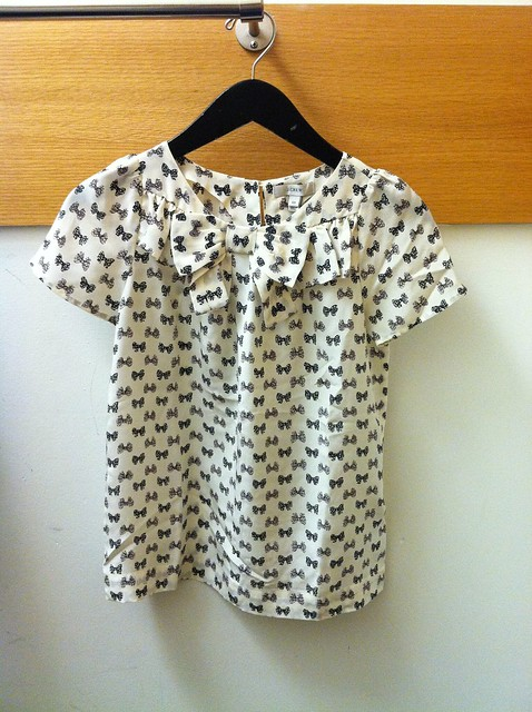J.Crew bow-across top