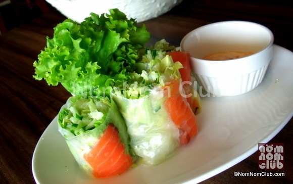 Salmon & Vegetable in Rice Paper (P185)