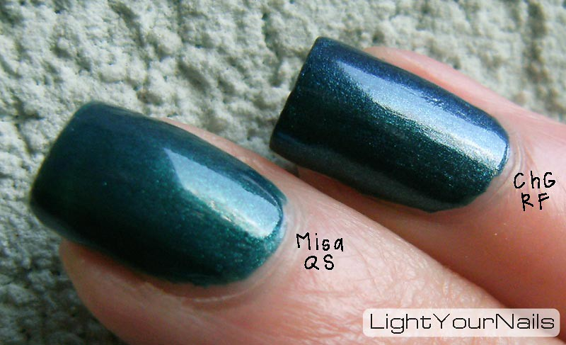 Misa Quirky Smile vs China Glaze Rodeo Fanatic