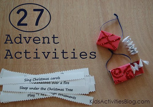 Countdown to Christmas with Advent Activities (Photo from Kids Activities Blog)