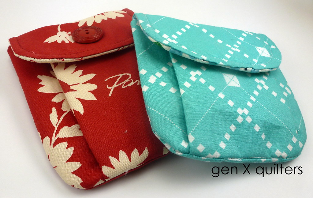 pleated pouches by gen X quilters