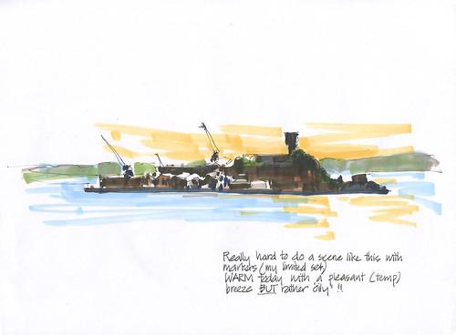 121129 Markered Cockatoo Island by borromini bear