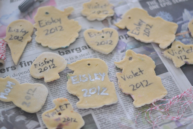 Names & dates on our salt dough ornaments