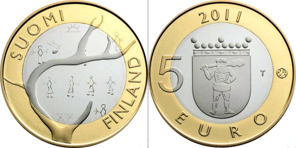 5 Euro Fínsko 2011, provincia Laponsko