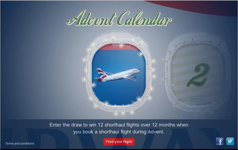 BA Advent Calendar is back for 2012 - FlyerTalk Forums