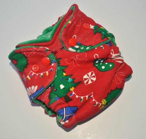 Bumstoppers Newborn 12 Days of Christmas Hybird Fitted **New Style**