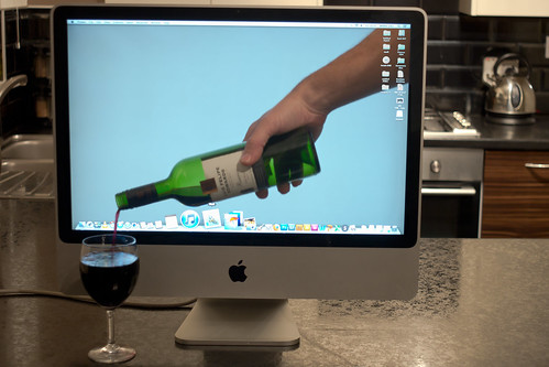Wine pouring apple mac!
