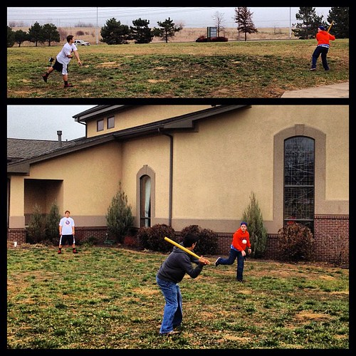 Wiffle while we wait at New Hope Presbyterian