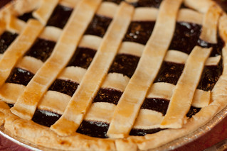 Blueberry pie made from scratch