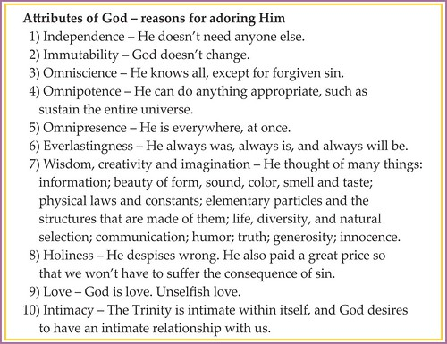 Attributes and qualities of God