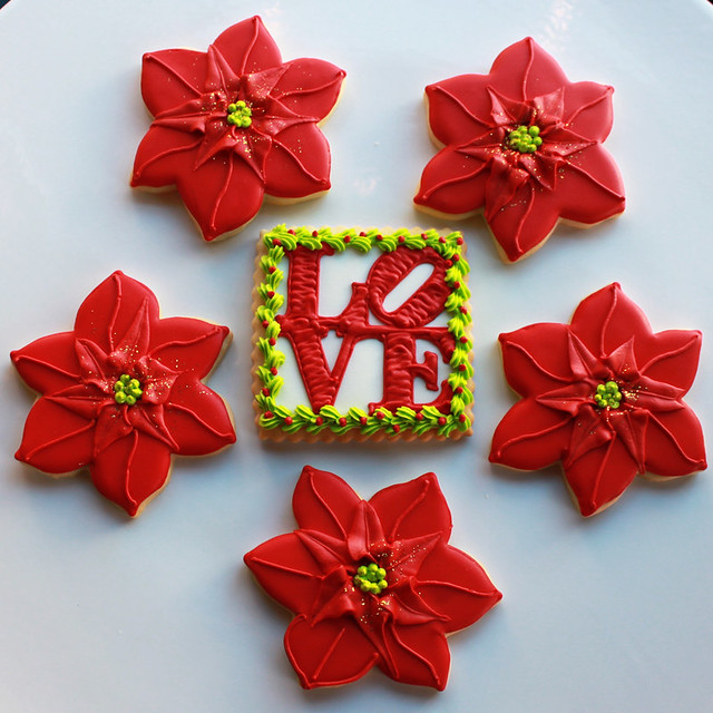Holiday Pointsettia Cookies | Flickr - Photo Sharing!
