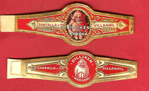 Billiken Cigar Band from Pre-Castro Cuba