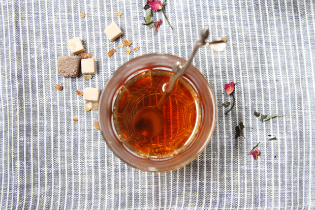 tea no. 104  - chrysanthemum, white tea, and rose petals - chambre de sucre