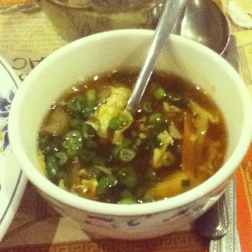 Hot & sour soup. My fave.