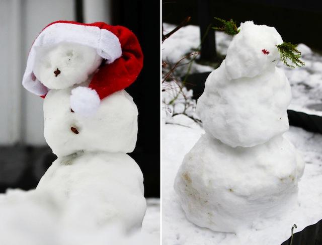 Monschau Christmas snowmen