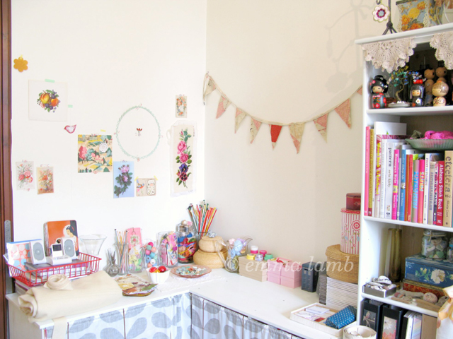 My fabby new 'wrapping and packing' station, a fancy new title this corner of my wee studio! Image: © emma lamb