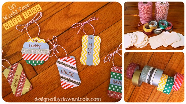 DIY washi tape gift tags