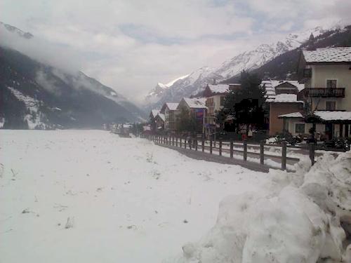Val d'Aosta 4 Panorama con neve