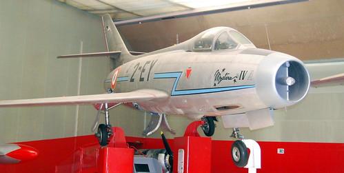 Dassault Mystere IVA, Musee de l'Air et de l'Espace, Le Bourget, Paris.