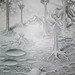 Vegetatie de pe Marte desen in creion _ mars vegetation pencil drawing